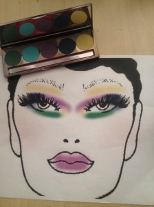 Face Chart Makeup eyeshadow Palette Peacock
