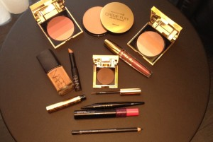 Christmas office party make-up products