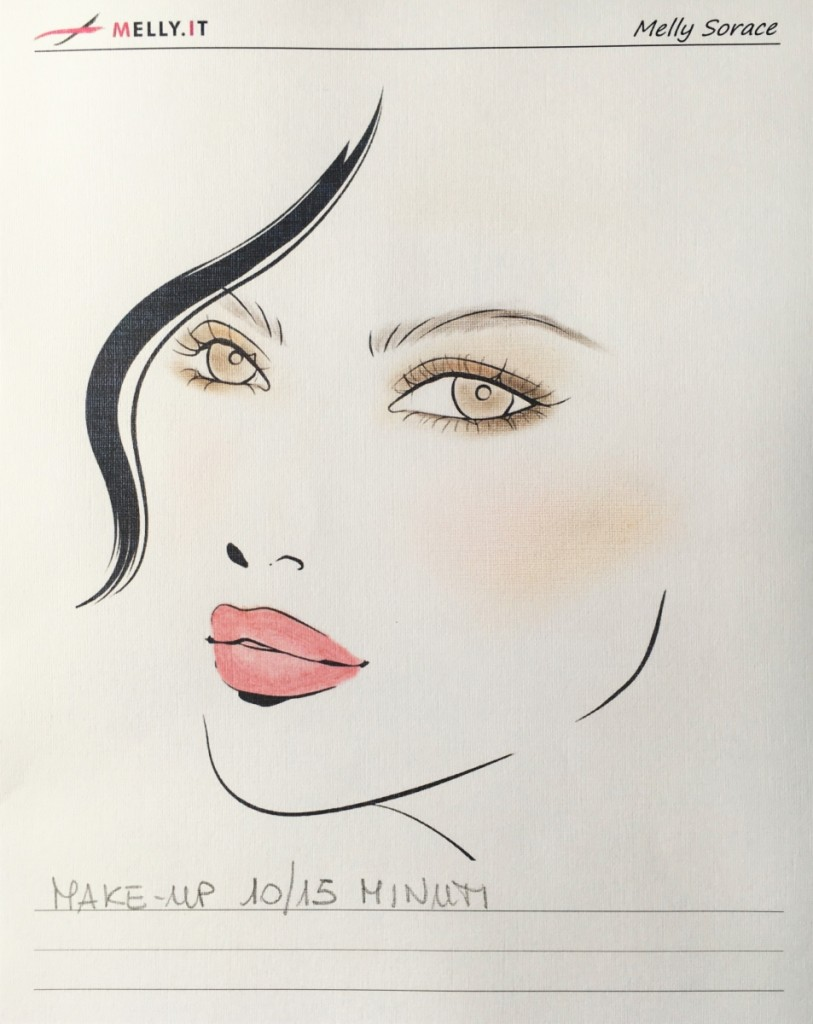 Face Chart Make-up 10-15 minuti